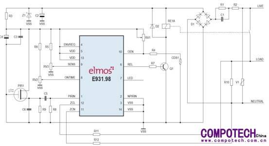 elmos推出应用于交流市电的热释电传感器解决方案