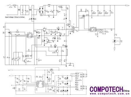 45 w usb pd3.0电源适配器方案电路原理图